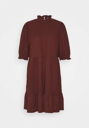 ONLZILLE HIGHNECK DRESS - Shirt dress - bitter chocolate
