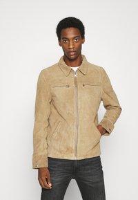 Schott - Leather jacket - rust - 0