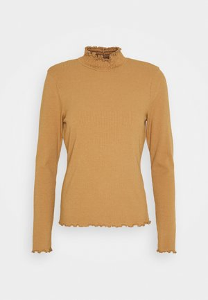VMGLADYS HIGHNECK  - Langærmede T-shirts - tobacco brown