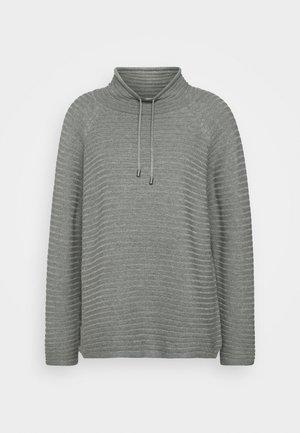 Strikkegenser - middle grey melange