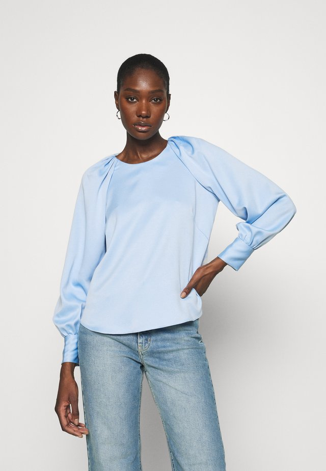 CLOSET GATHERED RAGLAN BLOUSE - Blus - blue