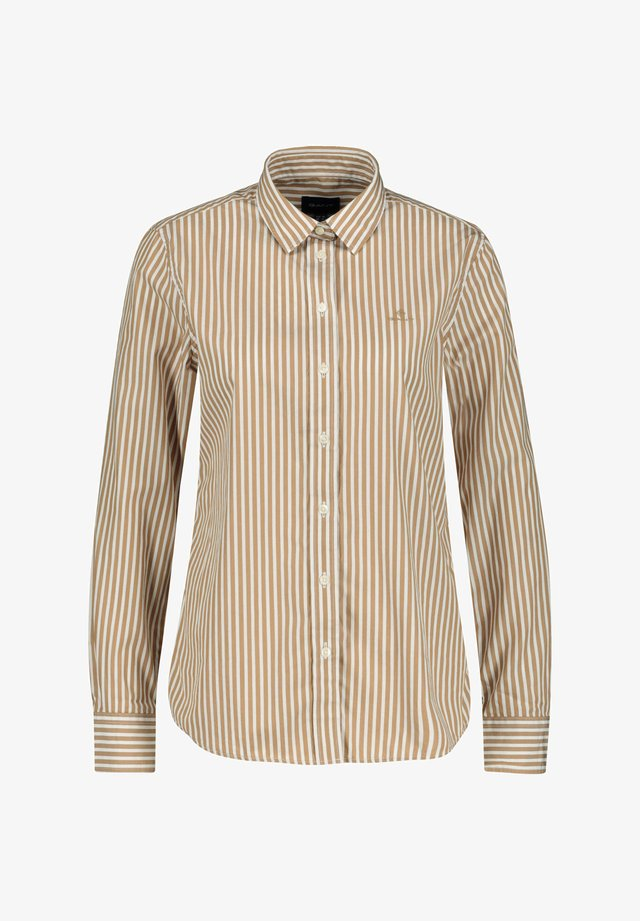 THE BROADCLOTH STRIPED - Button-down blouse - taupe (23)
