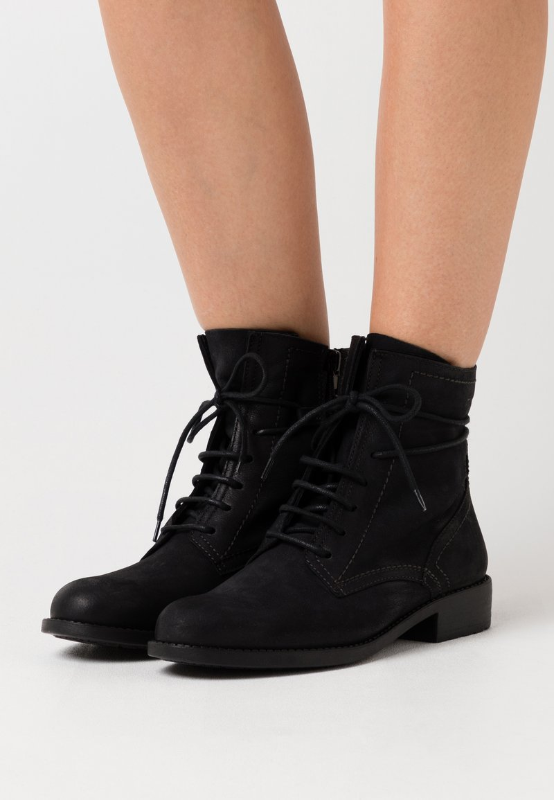 Tamaris - BOOTS - Lace-up ankle boots - black