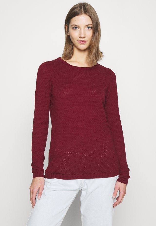 VMCARE STRUCTURE ONECK - Sweter - cabernet