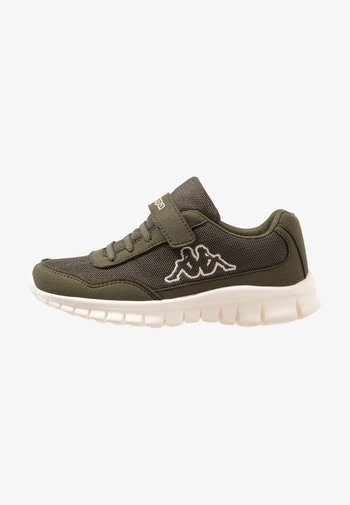 FOLLOW UNISEX - Sports shoes - army/offwhite