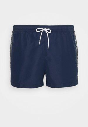 CORE LOGO TAPE DRAWSTRING - Swimming shorts - blue