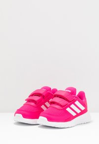 adidas Performance - TENSAUR RUN UNISEX - Zapatillas de running neutras - shock pink/footwear white/shock red - 3