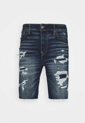 CUT OFF - Short en jean - dark wash
