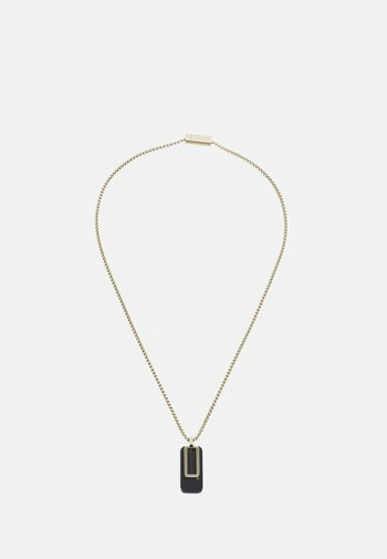 DUAL - Necklace - gold-coloured/black