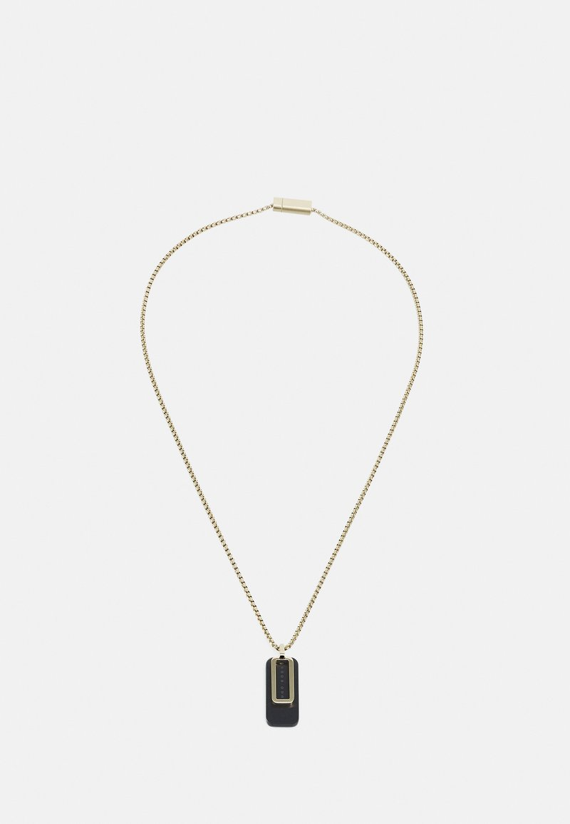 BOSS - DUAL - Necklace - gold-coloured/black