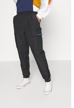 WOVEN CARGO JOGGER - Tracksuit bottoms - black