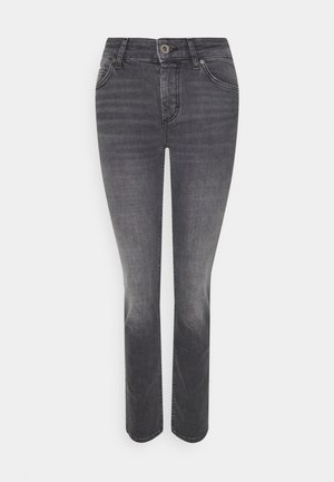 ALBY STRAIGHT - Džíny Slim Fit - commercial black wash