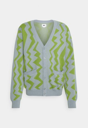 STATIC CARDIGAN - Chaqueta de punto - good grey/multi