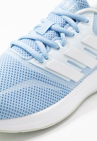 adidas Performance - RUNFALCON - Neutral running shoes - glow blue/footwear white/blue tint - 5