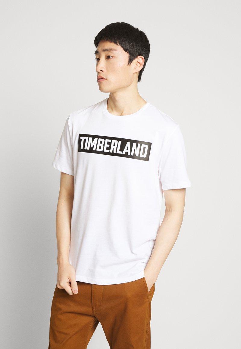 Timberland - T-shirt z nadrukiem - white