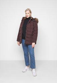 New Look Curves - ELLIE PUFFER - Parka - dark burgundy - 1
