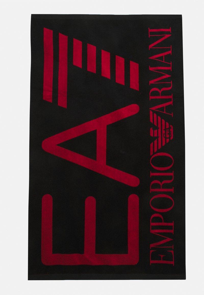 EA7 Emporio Armani - SEA WORLD VISIBILITY TOWEL - Bath towel - nero