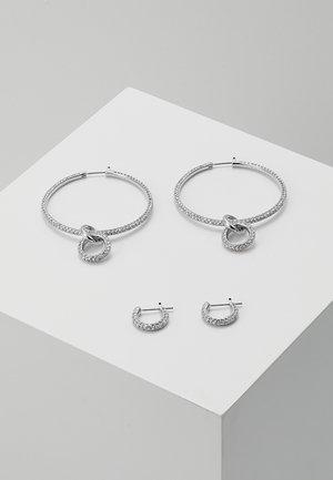 STONE SET - Earrings - silver-coloured