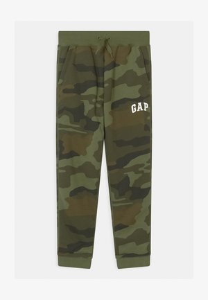 BOY LOGO - Tracksuit bottoms - khaki