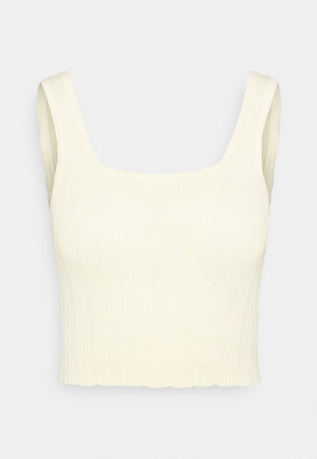 SQUARE NECK TANK - Top - lemon