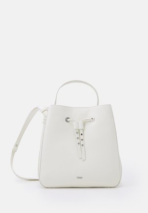 VICTORIA DRAWSTRING - Across body bag - white