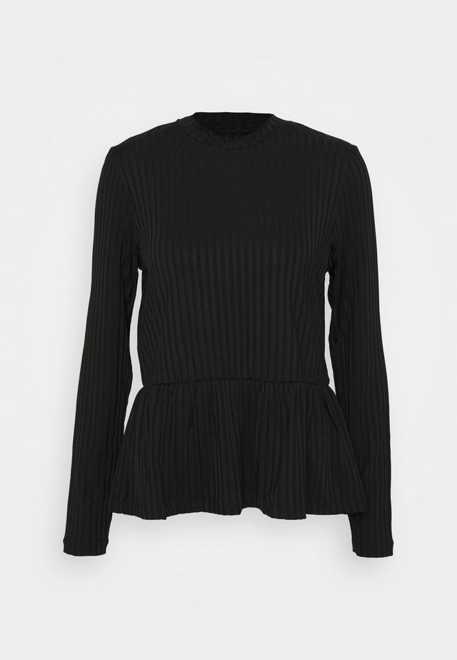 FOCUS - Long sleeved top - black