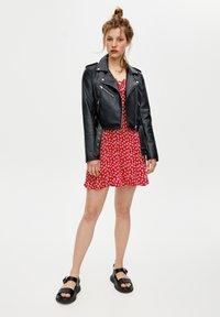 PULL&BEAR - Faux leather jacket - black - 1