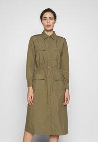 esmé studios - SARAH DRESS - Shirt dress - dusky green - 0