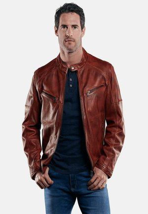 Leather jacket - rot