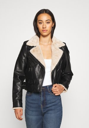 VMFALLLEAONIE SHORT JACKET - Faux leather jacket - black