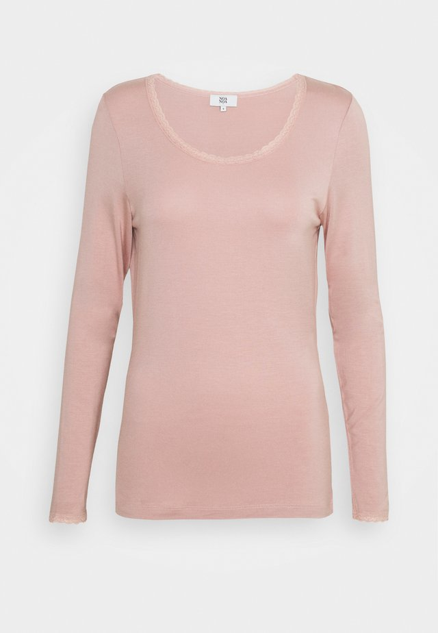 ESSENTIAL - Langærmede T-shirts - adobe rose