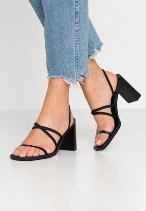 DONNA - Sandály na vysokém podpatku - black