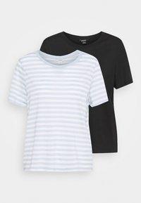 Monki - SIMBA TEE 2 PACK - T-shirts print - light blue - 6