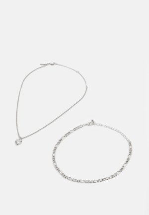 HEART CHOKER SET - Necklace - silver-coloured