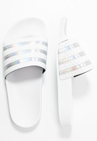 adidas Originals - ADILETTE SPORTS INSPIRED SLIDES - Pantolette flach - crystal white/footwear white - 1