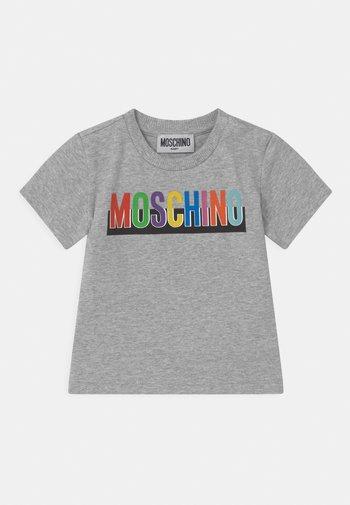 Print T-shirt - mottled light grey