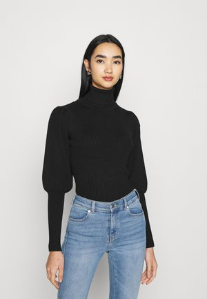 BLACK PUFF SLEVE TURTLENECK  - Jumper - black