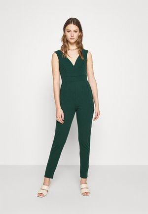 HEIDI LOW V NECK - Mono - forest green