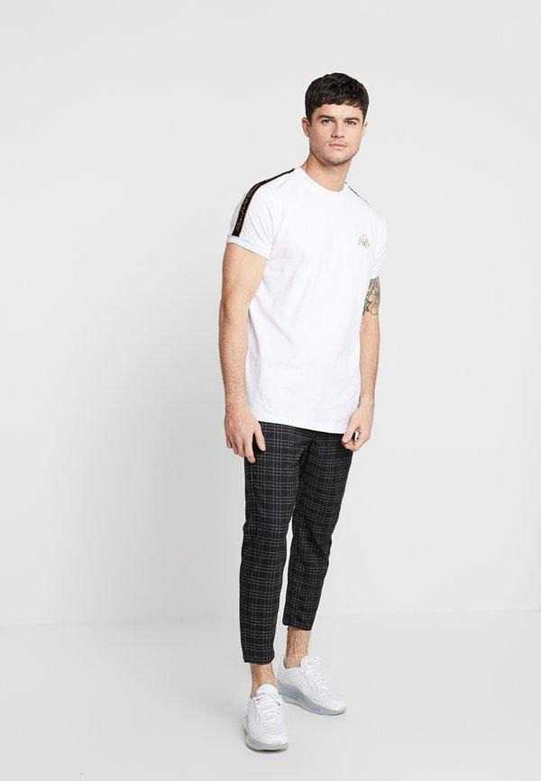 Kings Will Dream ELGO - Spodnie materiałowe - black/white/czarny Odzież Męska FBXH
