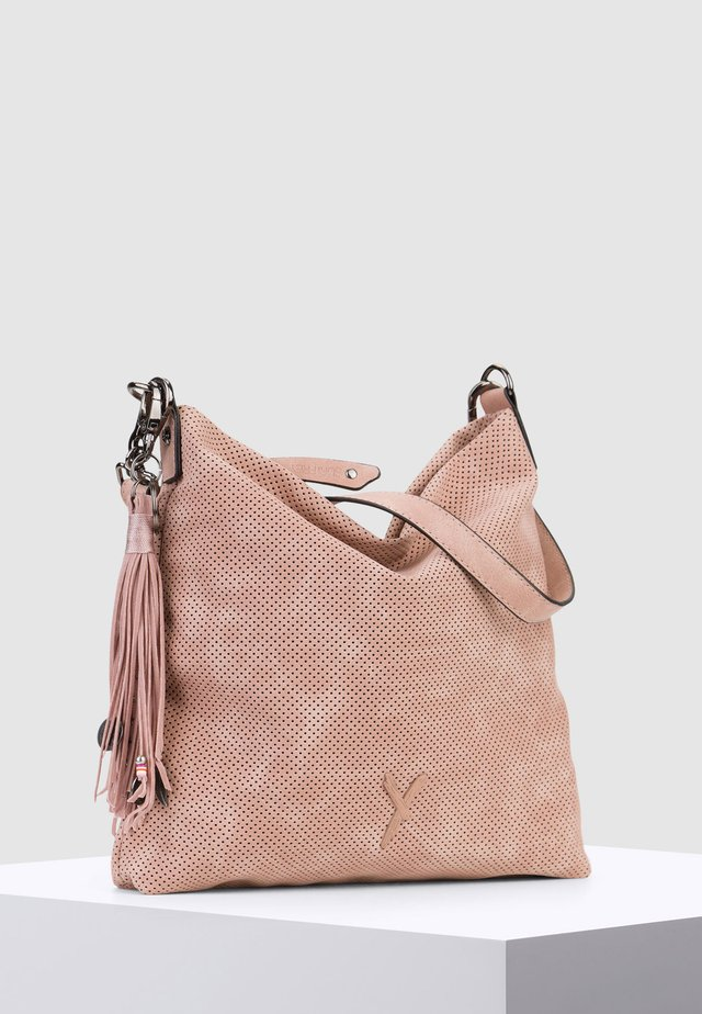 ROMY BASIC - Schoudertas - mottled light pink
