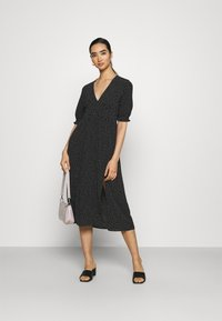 Monki - REESE DRESS - Day dress - black/off white - 1