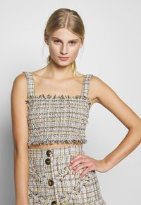 CMEO COLLECTIVE - FOR YOU LOVE TOP - Pusero - ivory tweed - 0