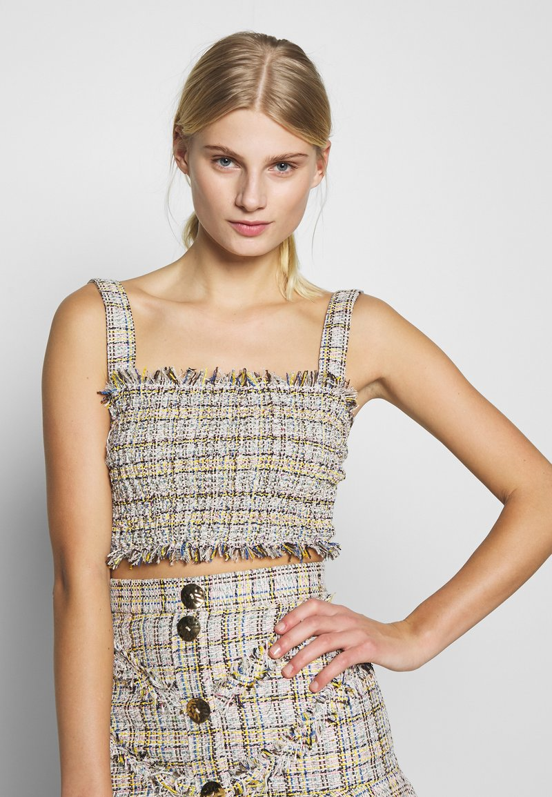 CMEO COLLECTIVE - FOR YOU LOVE TOP - Pusero - ivory tweed