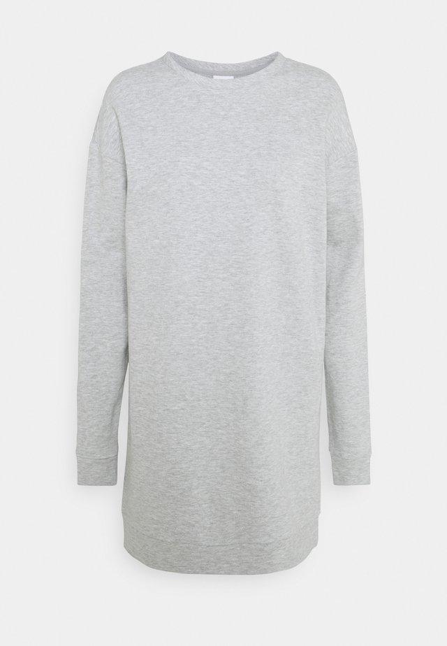 VIRUST O NECK DRESS - Korte jurk - light grey melange