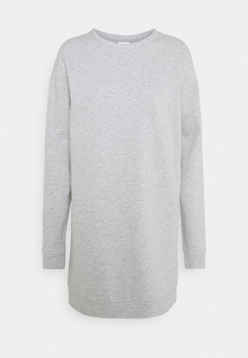 VILA PETITE - VIRUST O NECK DRESS - Vapaa-ajan mekko - light grey melange