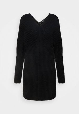 AIRY SCULPTED DRESS - Jumper dress - black