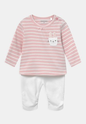SET - Sweatshirt - light pink/white