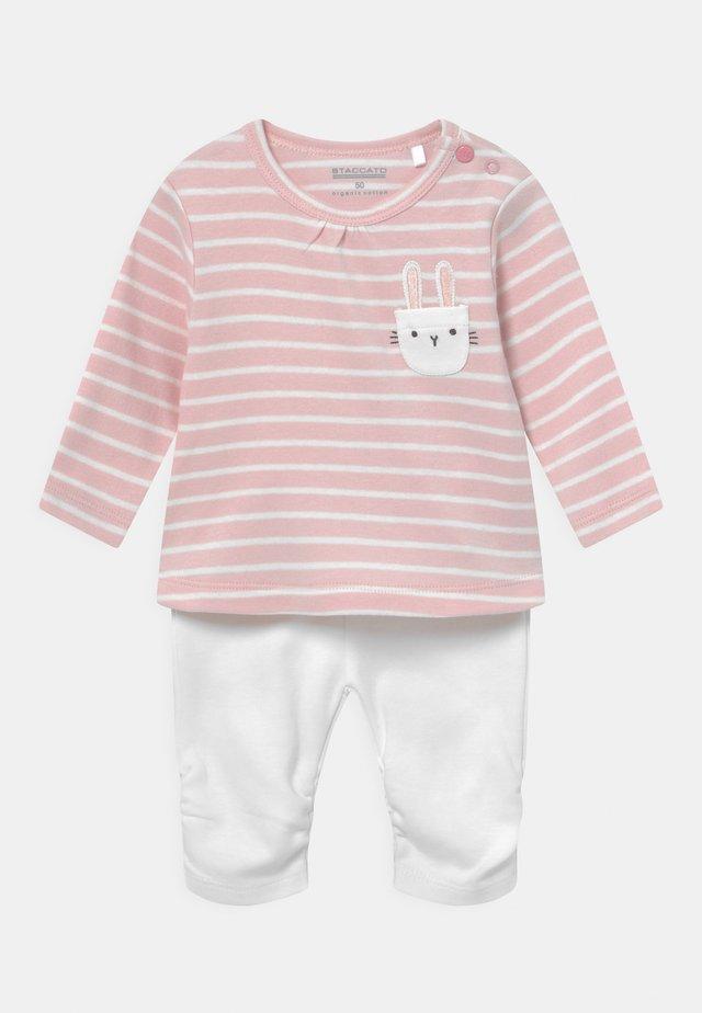 SET - Sweatshirt - light pink/white