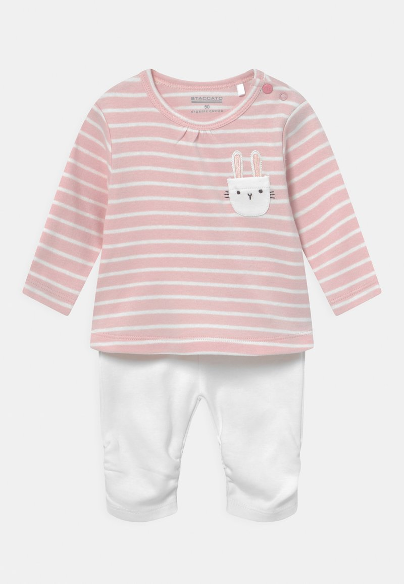 Staccato - SET - Sweatshirt - light pink/white