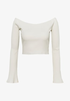 HANNA SCHÖNBERG  X NA-KD - Long sleeved top - beige